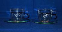 DXN kávés üvegpohár 2 dl-es a készletben 2 db van ebből a pohárból
